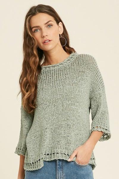 Open Knit Detail Sweater