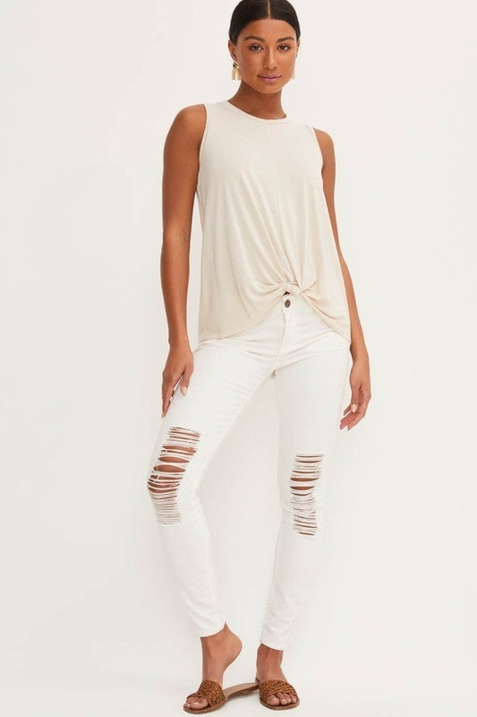 Basic Knotted Tank Top
