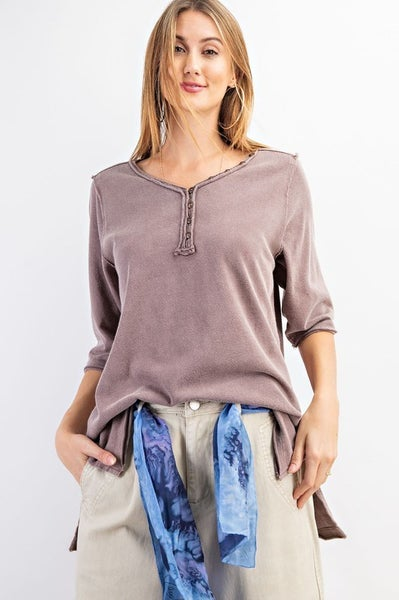 Cotton V-Neck Loose Fit Top