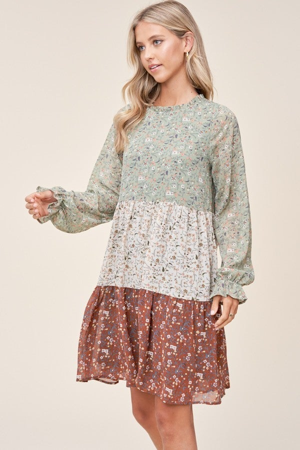 Ditsy Print Dress