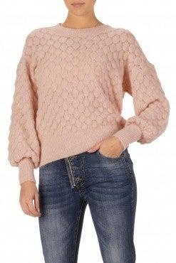 Oatmeal Bubble Sleeve Sweater