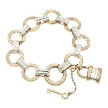 Heidi Padlock Chain Bracelet in Two-Tone