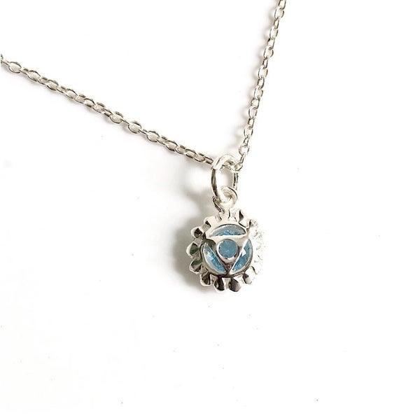 Aqua Throat Chakra Necklace