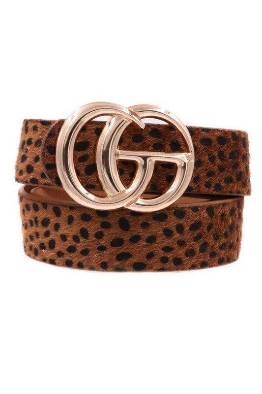 Faux Fur G Belt