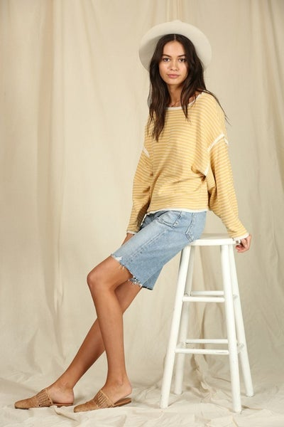 Long Sleeve Round Neck Oversized Top
