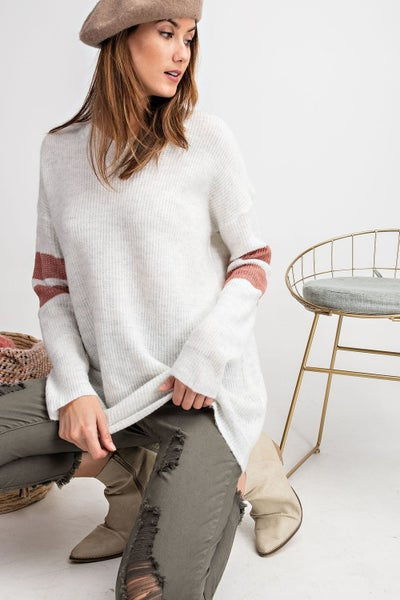 Athletic Inspired Knit Top