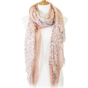 Small Flowers Print Oblong Scarf