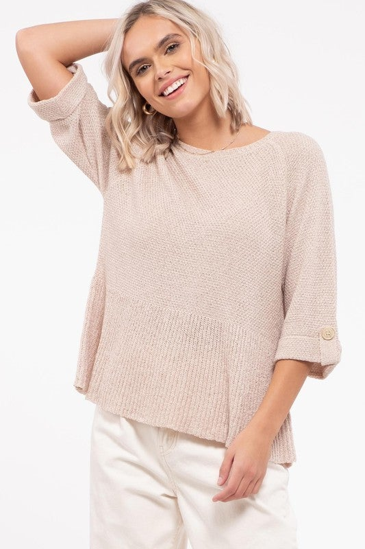 Flounce Bottom Sweater top