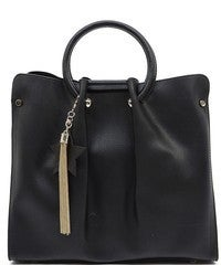 Faux Leather Fashion Round Top Handbag