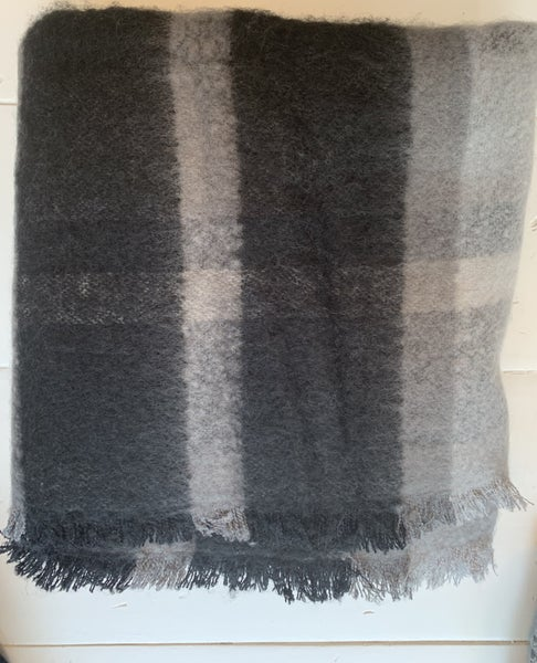 Black/Grey Plaid Scarf *Final Sale*