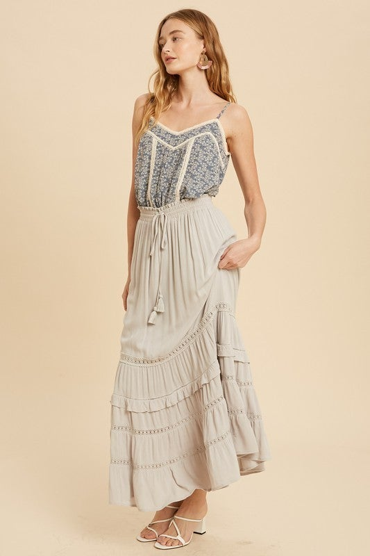 Tiered Maxi With Lace Details