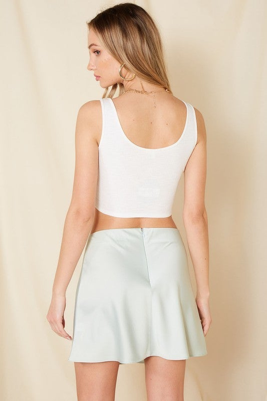 Ribbed Crop Sleeveless Top