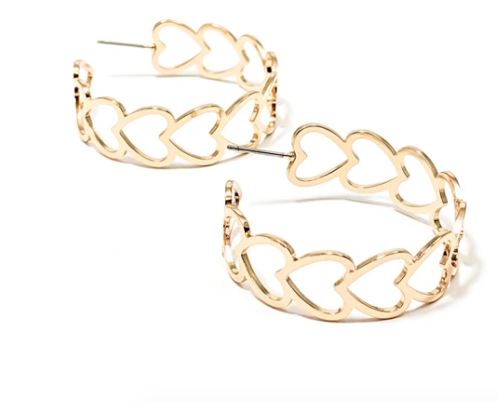 Maxene Heart Earrings