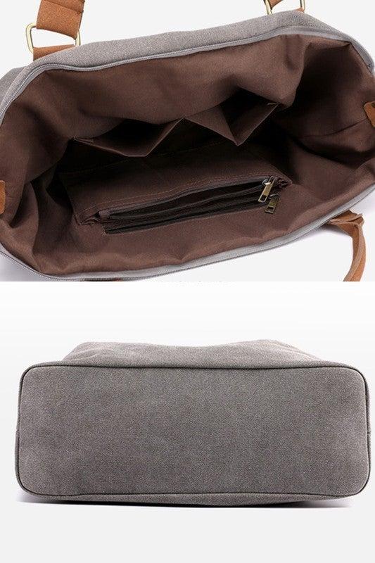 Grey Canvas Bag