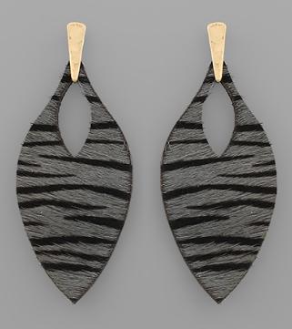 Zebra Marquise Earrings