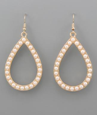 Pearl Teardrop Dangle Earrings *Final Sale*