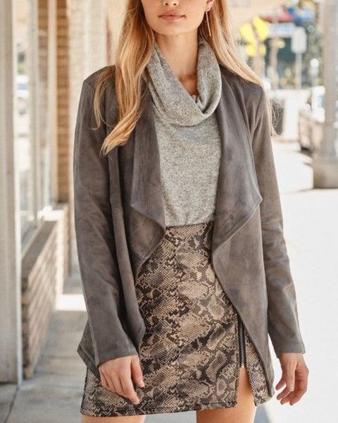 Faux Snakeskin Skirt