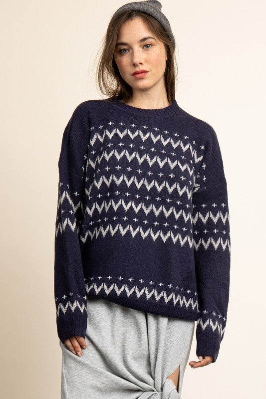 Ariana Nordic Patterned Sweater *Final Sale*