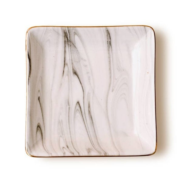Grey Marble Jewelry Dish