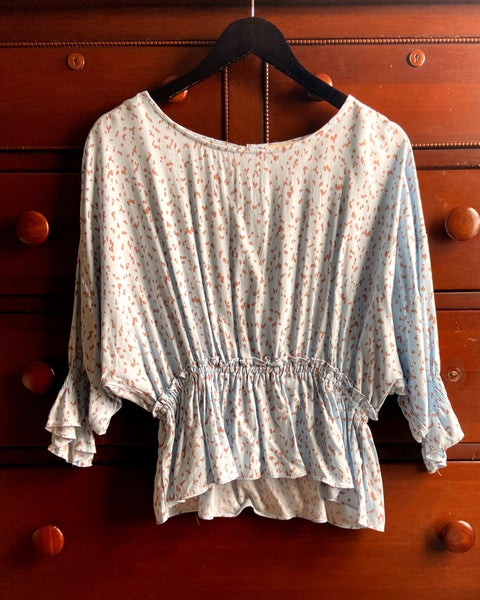 Speckled Smocked Waist Top
