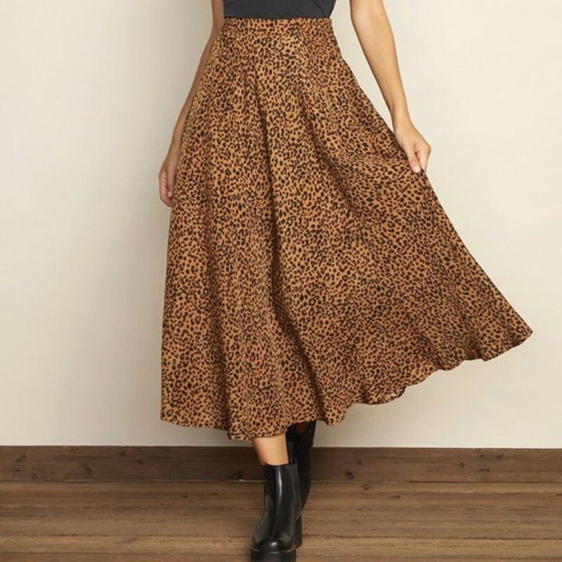 Leopard Print Midi Skirt *Final Sale*
