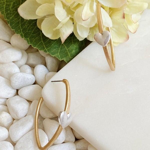 Singular Shape Hoop Earrings