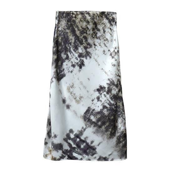 Tie Dye Print Slip Skirt