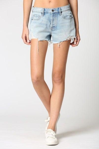 Hidden Midrise Frayed Shorts