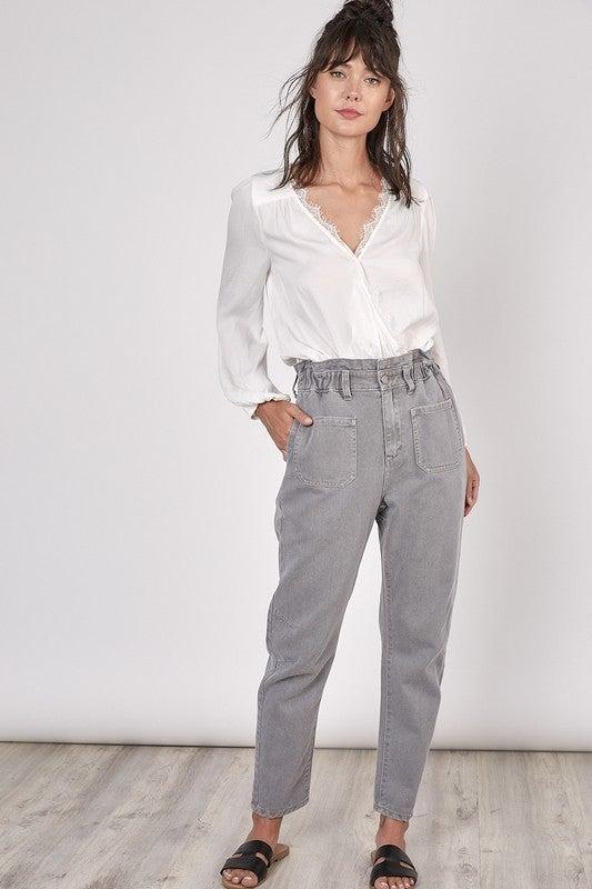 Grey jogger Pants with Pockets