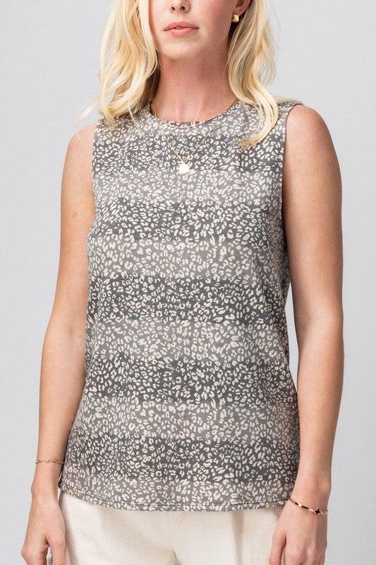 Leopard Print Sleeveless Top
