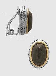 Oval Clip Clasp Earrings
