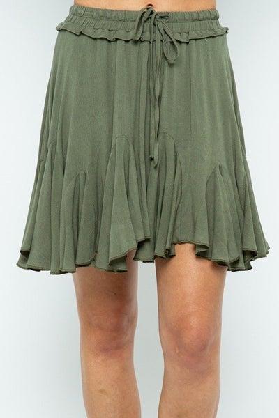 Ruffle Lining Skirt