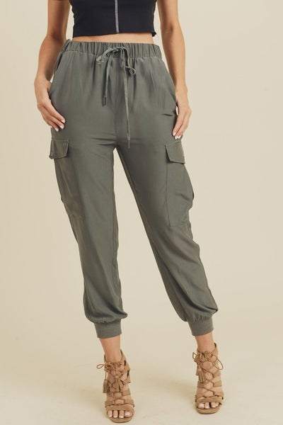 Charcoal Cargo Joggers with Pockets