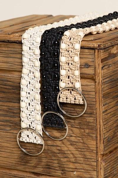Ivory Leatherette Belt