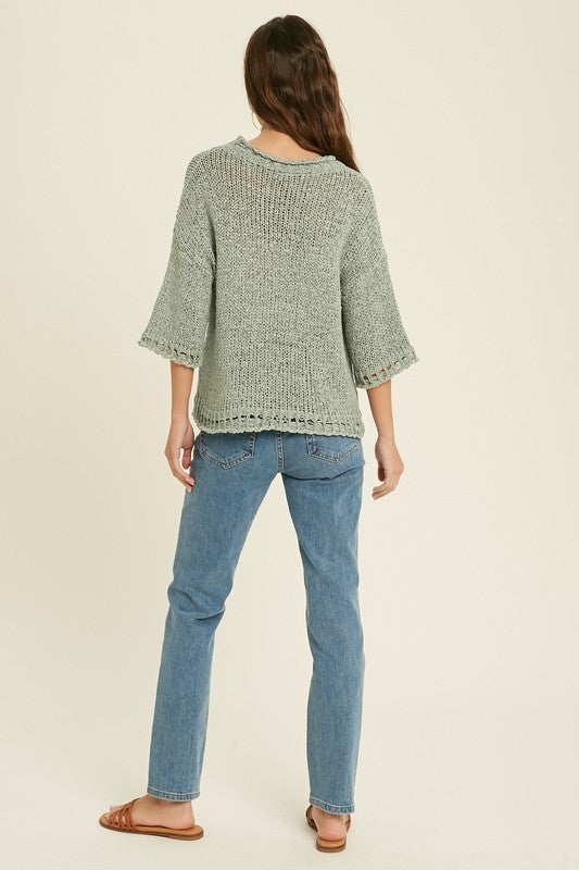 Open Knit Detail Sweater
