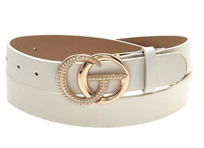 Pearl Accent Buckle Fashion Belt