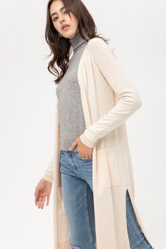 Longline Duster Cardigan Sweater