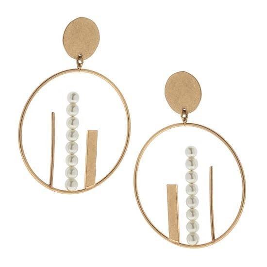 Ciara City Skyline Hoop Earrings in Gold
