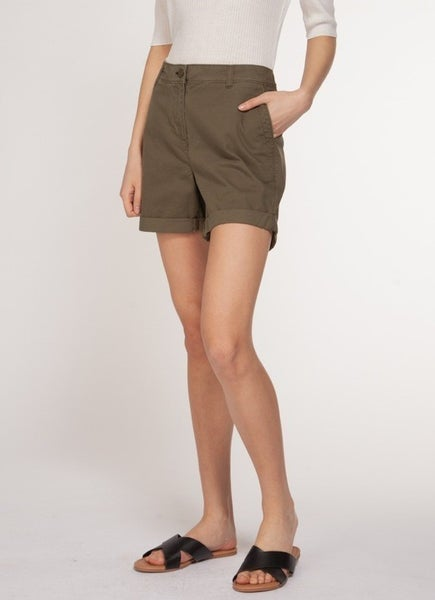 Olive Green Mid Rise Shorts *Final Sale*