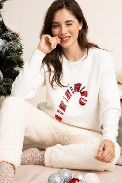 Noel Sequin Sweater