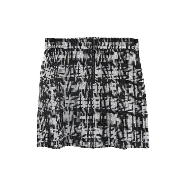 Knit Plaid Skirt