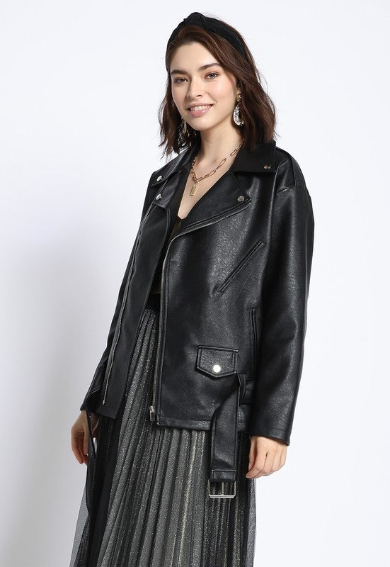 Oversized Moto Jacket *Final Sale*