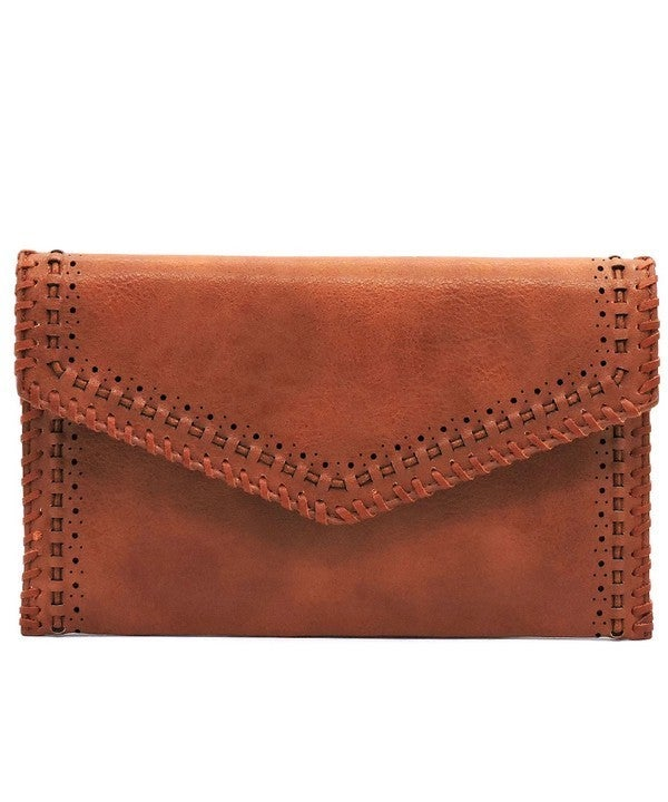 Laser Cut Whipstitch Envelope Clutch