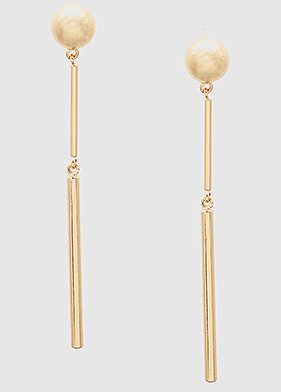 Metal Geometric Bar Drop Earrings