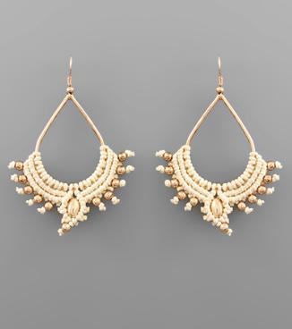 Woven Teardrop Earrings