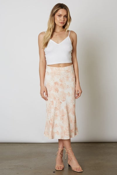 Blush Printed Midi Skirt *Final Sale*