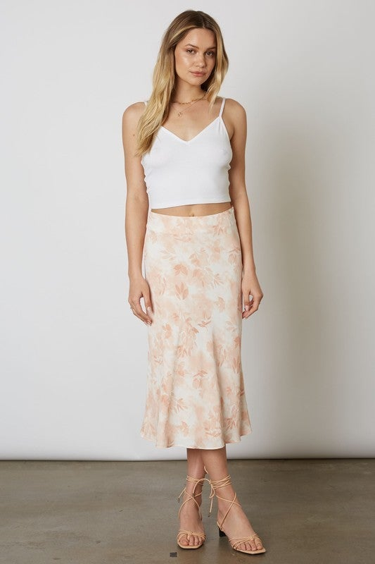 Blush Printed Midi Skirt *Final Sale*
