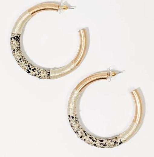 Wrapped Hoop Earrings