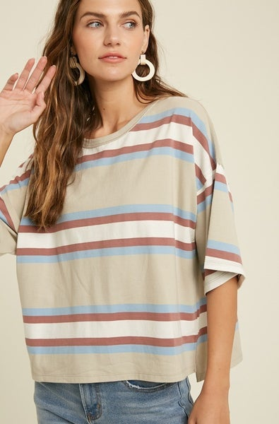 Oversized Stripe T-Shirt