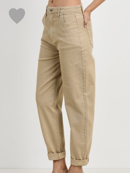 Sand Garment Dyed Baggy Jeans
